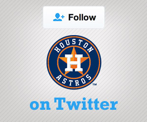 Follow the Astros on Twitter
