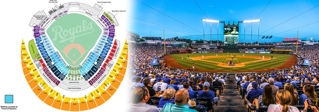 Kauffman Stadium Seating Map MLBcom - Mlb us map
