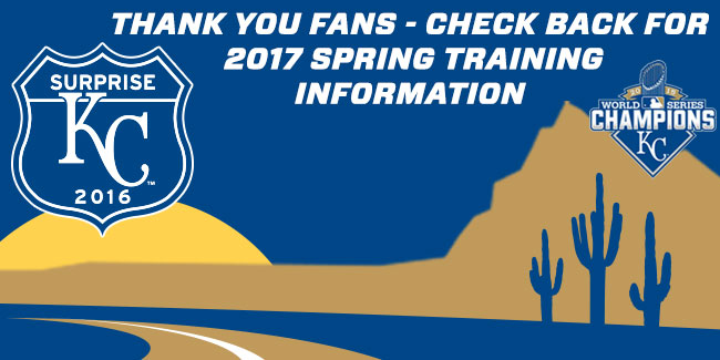 Check back for Spring Training information