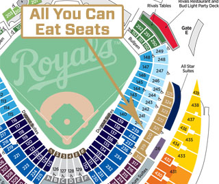 All You Can Eat Seats Located in Sections 318-325