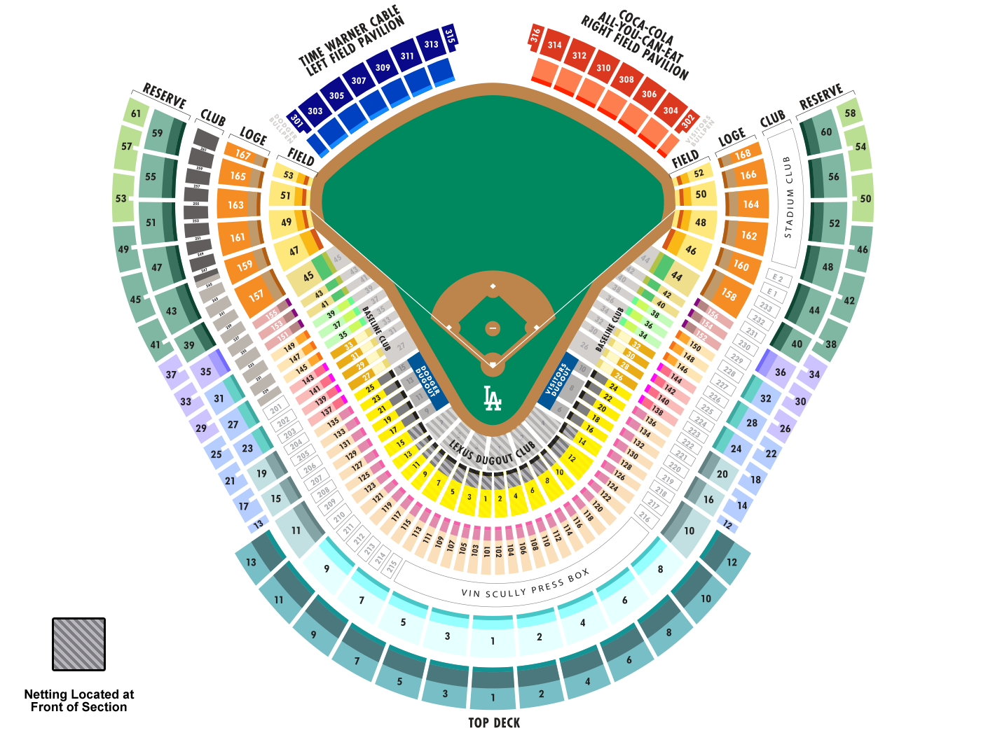 Dodgers seating map mlb com