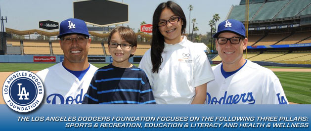 The Los Angeles Dodgers Foundation focuses on the following three pillars: sports & recreation, education & literacy and health & wellnes