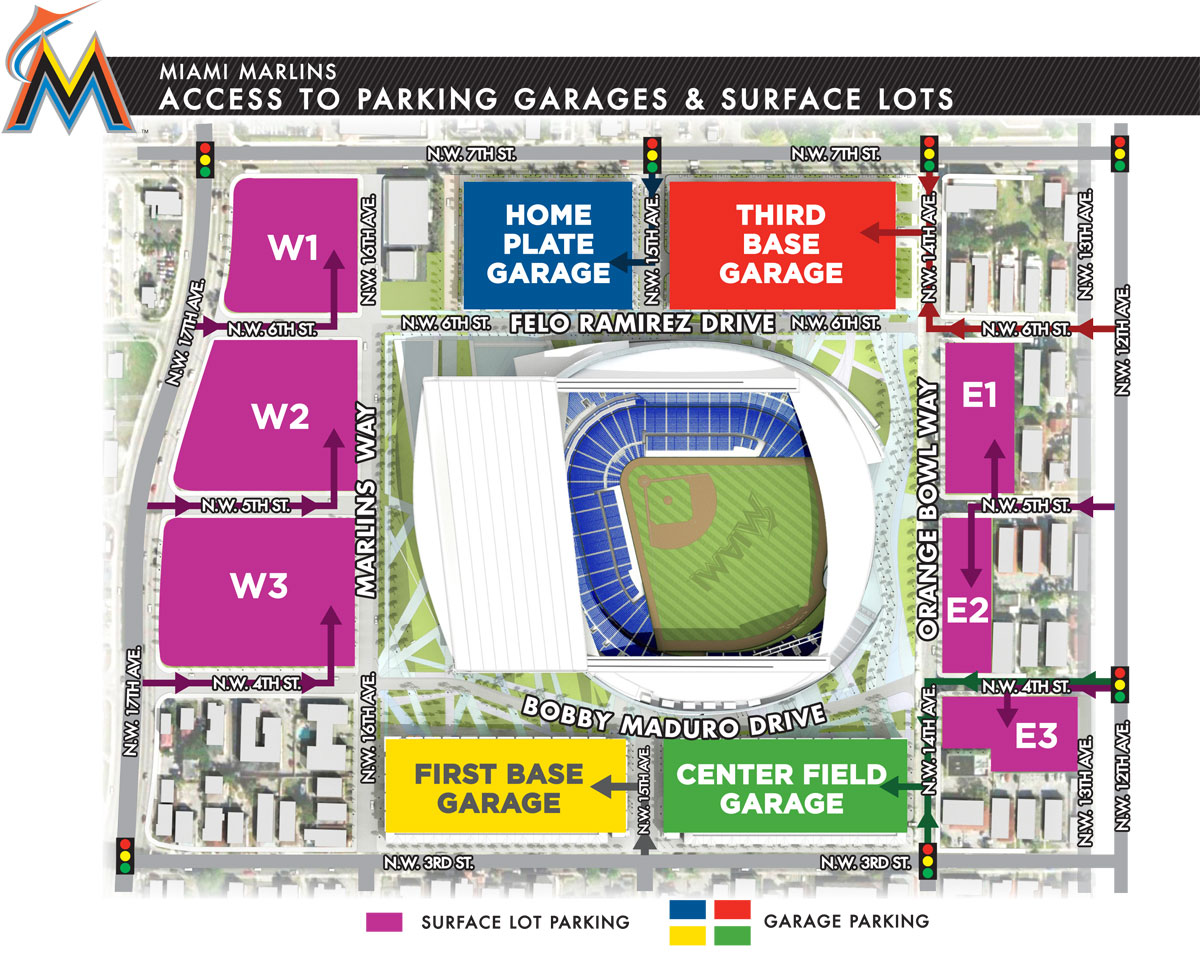 Parking Garages and Surface Lot Map