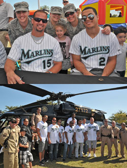 Marlins Visit The Troops