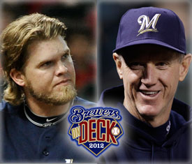 Hart - Roenicke Brewers On Deck 2012
