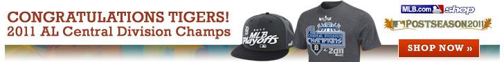 Congratulations Tigers! 2011 AL Central Division Champs. Shop now >>