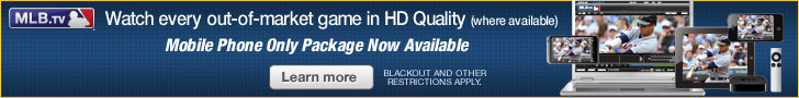 MLB.TV: Watch every market game in HD quality. Mobile phone only package now available.