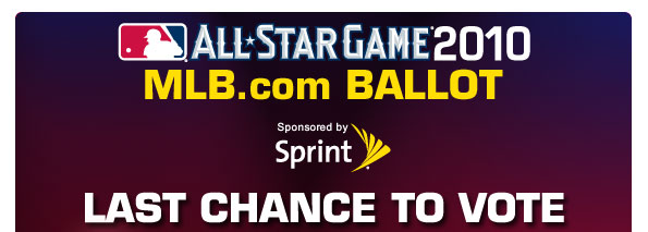 MLB.com BALLOT Sponsored by Sprint LAST CHANCE TO VOTE
