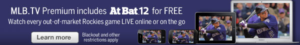 Watch every out-of-market Rockies game LIVE online or on the go. Learn more