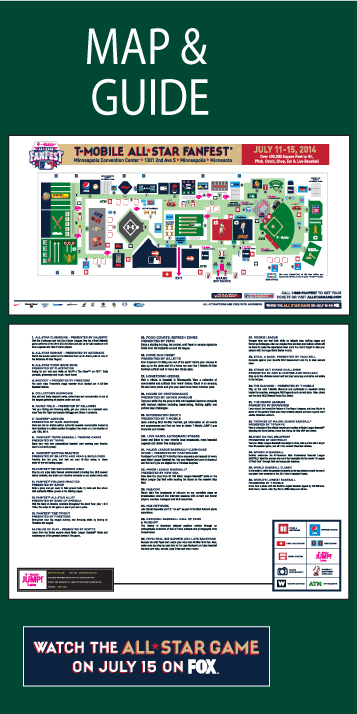 FanFest Map & Guide July 11-15,2014