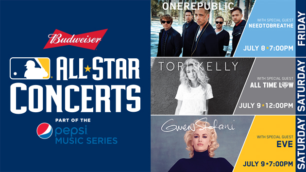 Budweiser MLB All-Star Concerts, part of the Pepsi Music Series