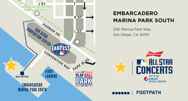 Embarcadero Marina Park South Map