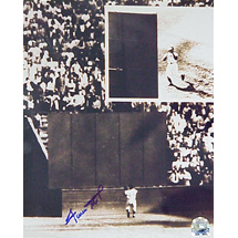 Authentic Willie Mays Autographed The Catch Photo