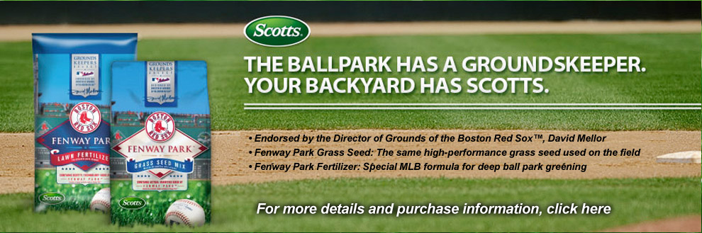 The ballpark has a groundskeeper. Your backyard has Scotts. For more details and purchase information, click here