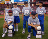 2009 National finalists were honored during the State Farm Home Run Derby.
