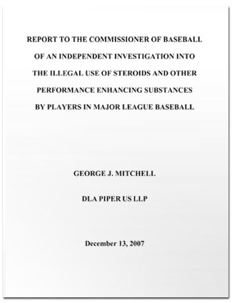 Mitchell Report cover sheet