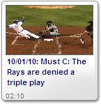 Rays are denied a triple play