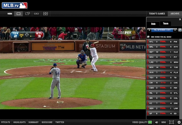 mlb tv login