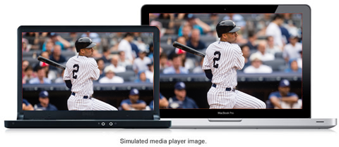 Simulated media player image