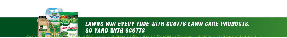 Lawns win every time with Scotts® lawn care products. Give yours the Home Field Advantage today.