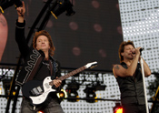 Richie Sambora and Jon Bon Jovi in Central Park