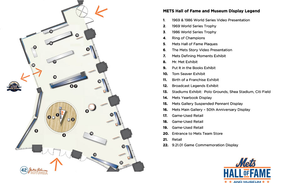 Map of the Hall of Fame