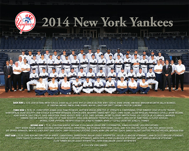 2014 Yankees Team Photo