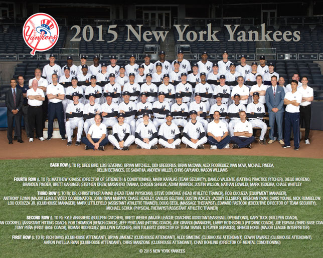 2015 Yankees Team Photo