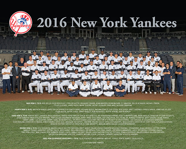 2016 Yankees Team Photo