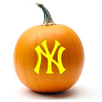 new york yankees logo. New York Yankees Logo Pumpkin