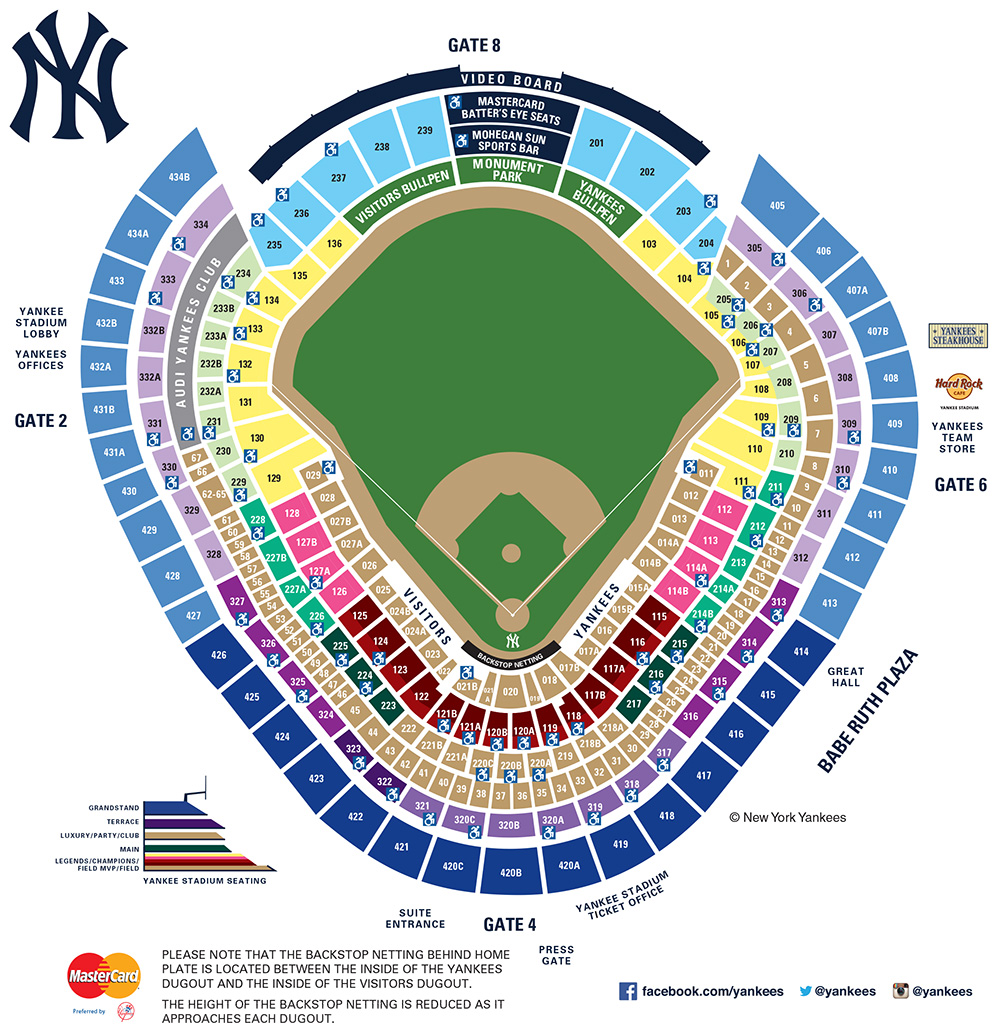 Yankee Stadium Seating Map | MLB.com