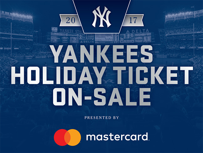 Yankees Holiday Ticket On-Sale