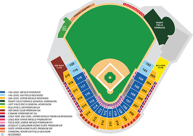 GMS Field Seating Map