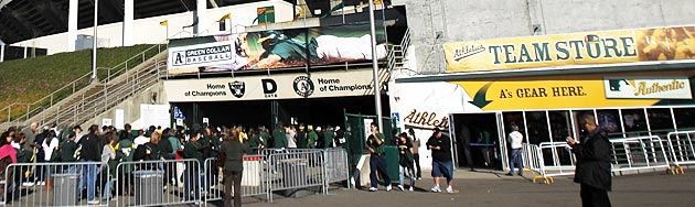 Front of the Oakland Coliseum