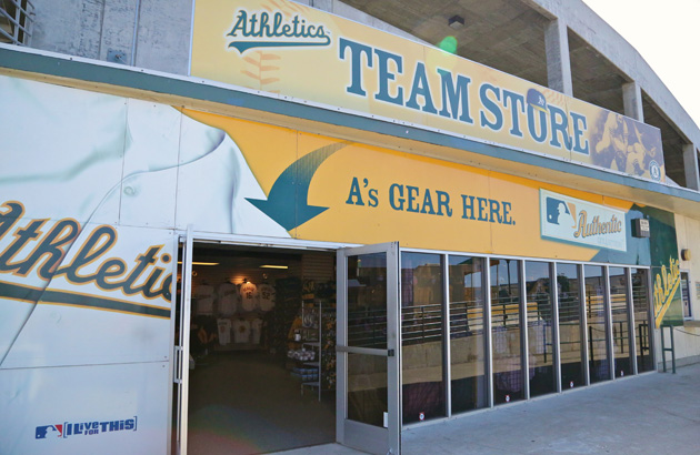 A's Team Store at the Oakland Coliseum Coliseum