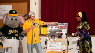 Josh Reddick at a Science of the Game event