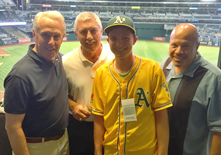 Brian Brownfield and the A's broadcasters