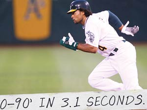 Coco Crisp - 0-90' in 3.1 Seconds