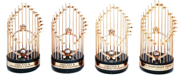 A's Championship Trophies