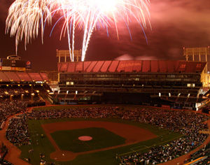 Fireworks over the Coliseum