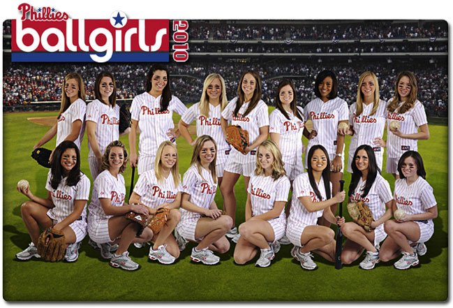 Phillies ball girls 2010
