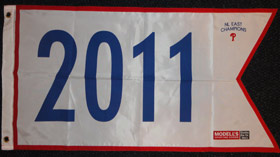 2011 NL East Champions Pennant
