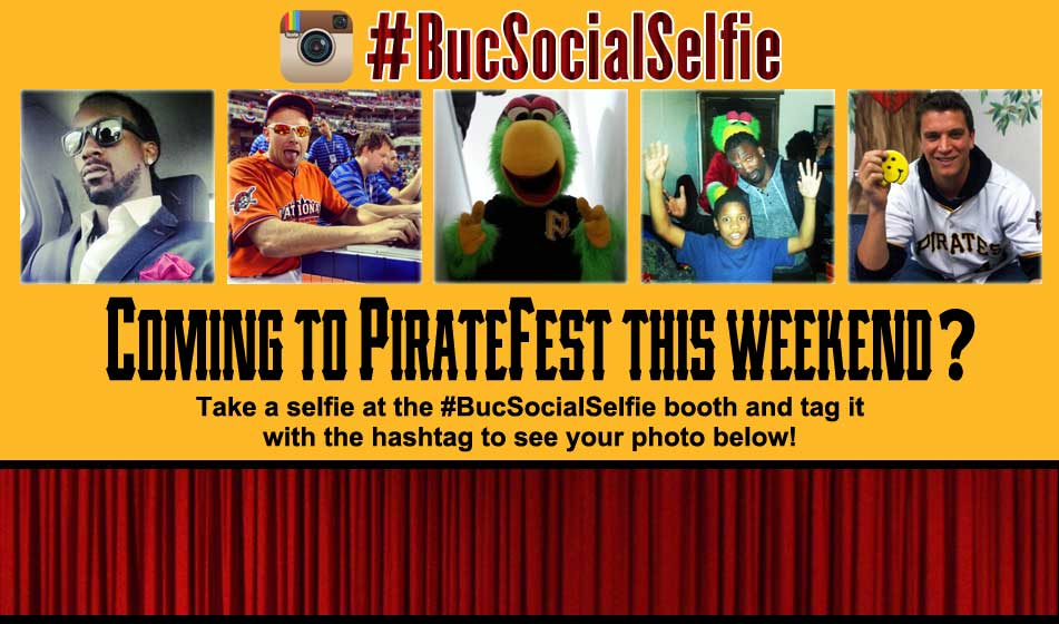 #BucSocialSelfie - Coming to PirateFest this weekend? Take a selfie at the #BucSocialSelfie booth and tag it with the hashtag to see your photo below!