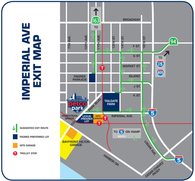 Imperial Avenue Exit Map