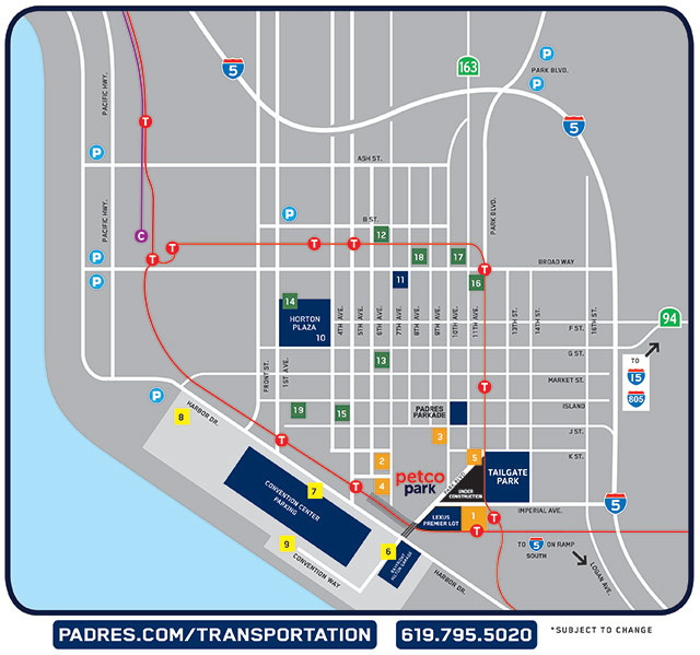 Petco Parking Map