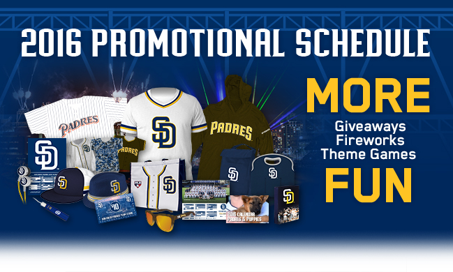 2016 Promotional Schedule