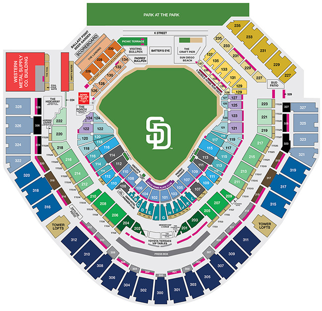 Petco Park Seating Map