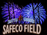 Fireworks at Safeco Field