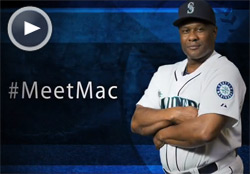 McClendon's first day as manager of the Mariners