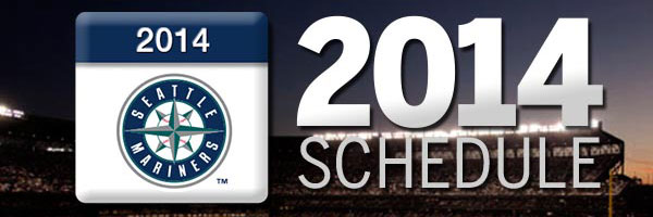Mariners announce 2014 schedule